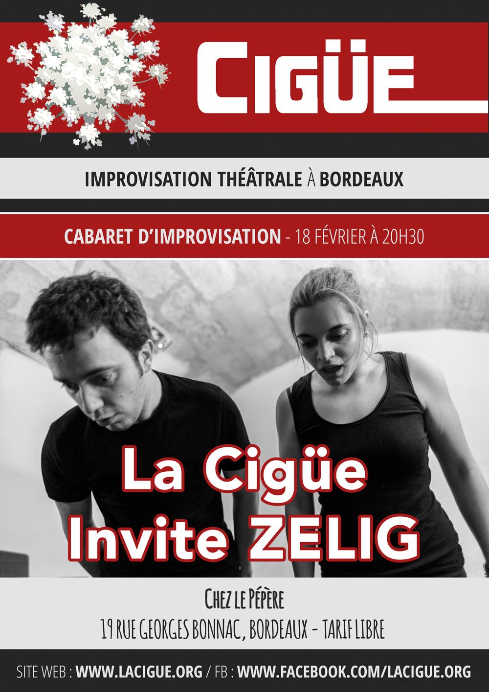La Cigüe invite Zelig