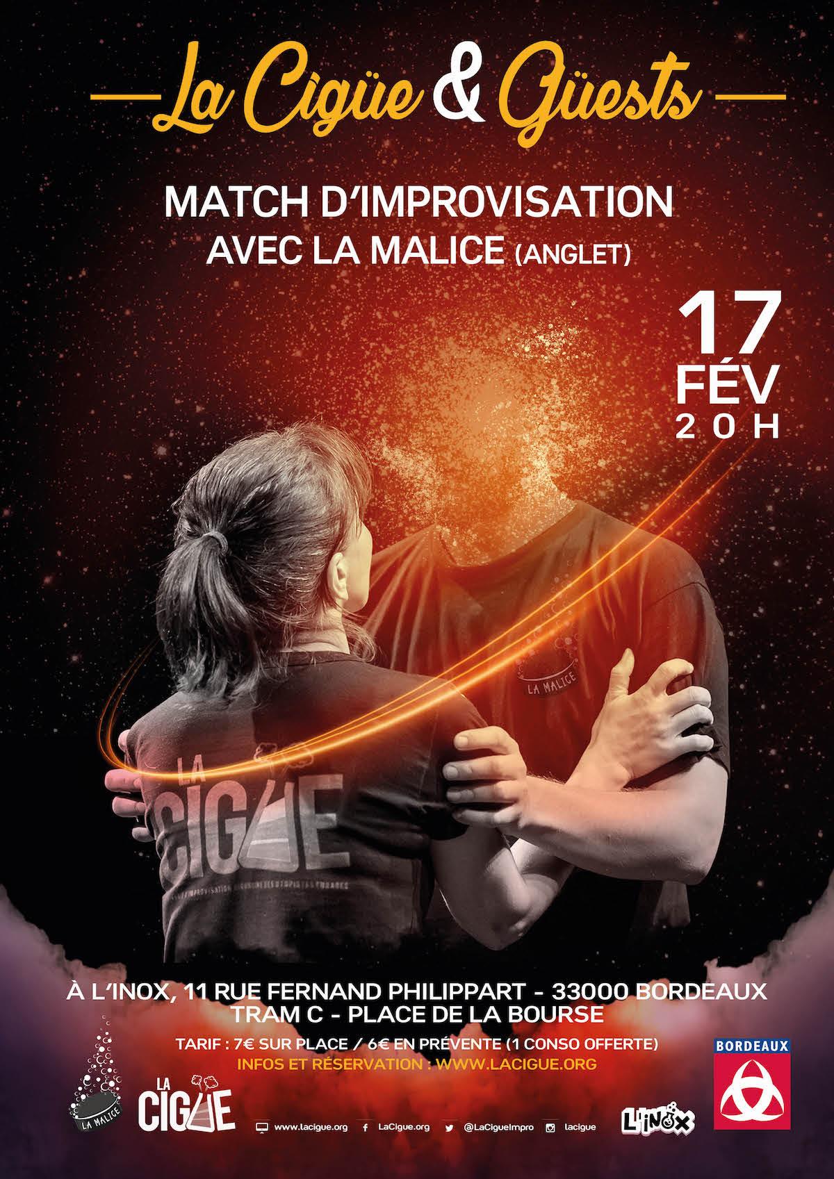 La Cigüe & Güests # 1 – Match d'impro La Cigüe vs La Malice Anglet