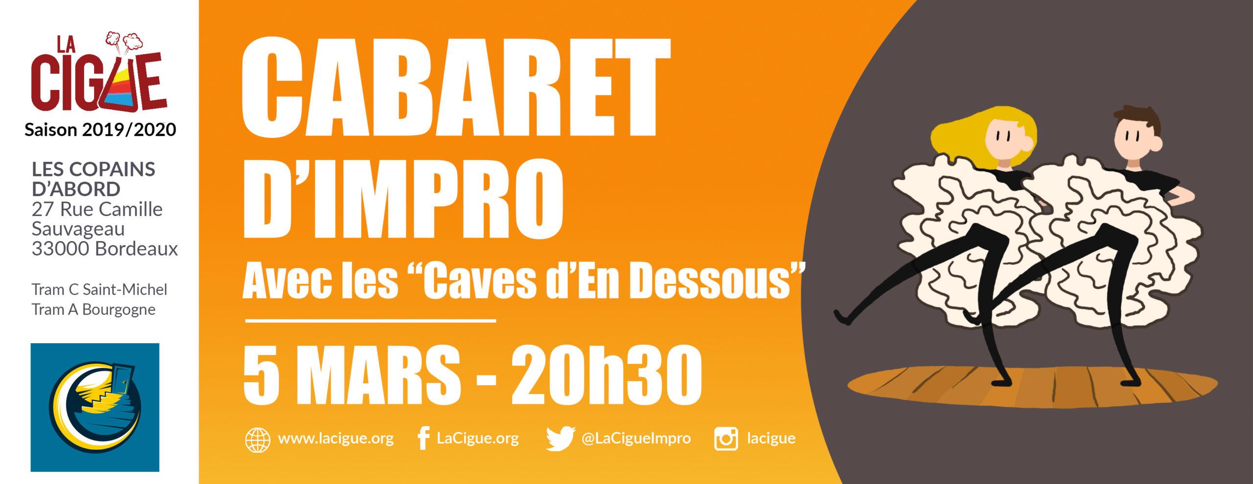 Cabaret d' Improvisation #3 – Avec «Les Caves d'En Dessous»