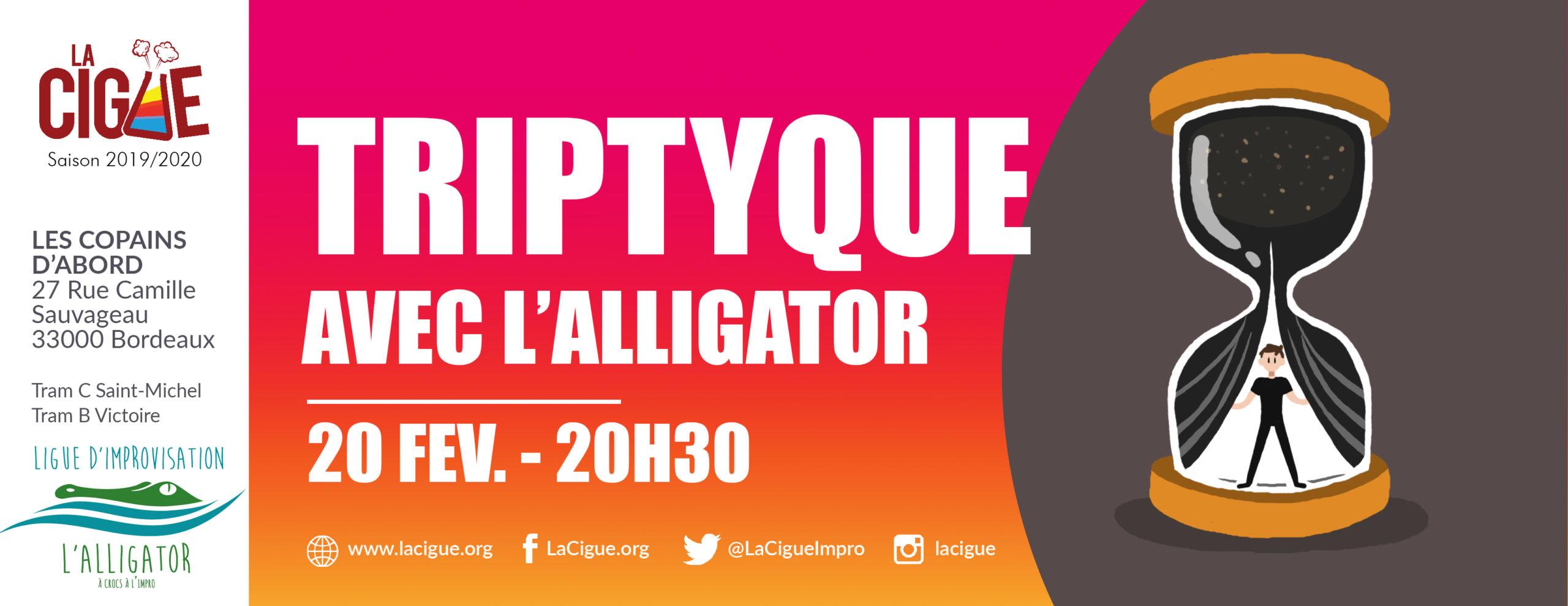 Triptyque #2- Avec L'Alligator